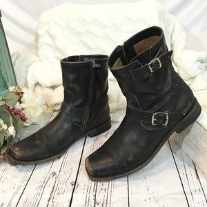 Frye smith engineer motorcycle leather boots